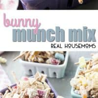 Bunny Munch Mix is a sweet and salty party mix that will make this year's Easter baskets the best yet!! Just say no to plastic green grass and yes to Bunny Munch Mix!