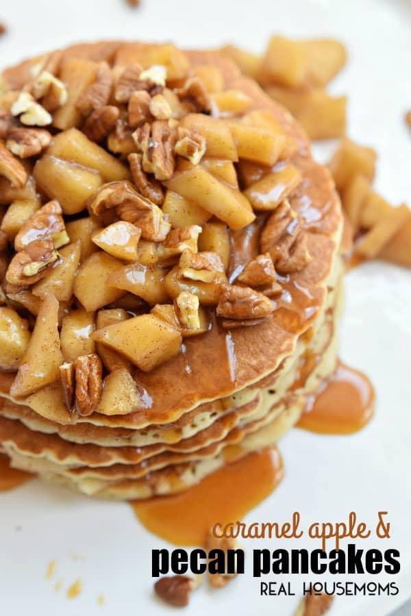 caramel-apple-and-pecan-pancakes