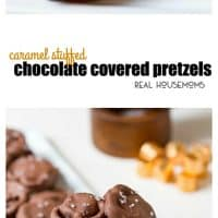 Caramel Stuffed Chocolate Covered Pretzels are a simple candy you can serve up as a Christmas treat or just for fun! Christmas candy or not they make everyone smile!