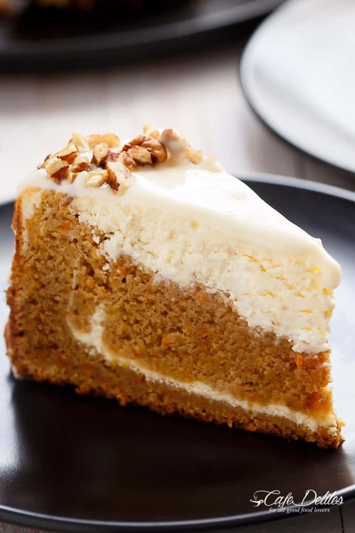 Carrot Cake Cheesecake - Cafe Delites