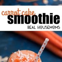 Wouldn't you like to begin and end your day with carrot cake? Well, now you can with this fruit and vegetable packed Carrot Cake Smoothie!