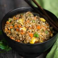 Cauliflower Fried Riceis an easy to make a tasty, low carb meal packed with vitamins and flavor! This rice is so good you won't even think you're eating healthy!