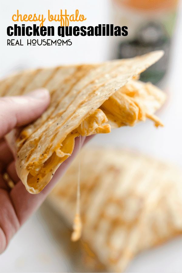 Cheesy Buffalo Chicken Quesadillas Real Housemoms