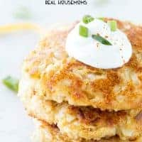 Cheesy Cauliflower Pancakes are low carb, super tasty, and perfect for lunch or a side dish!