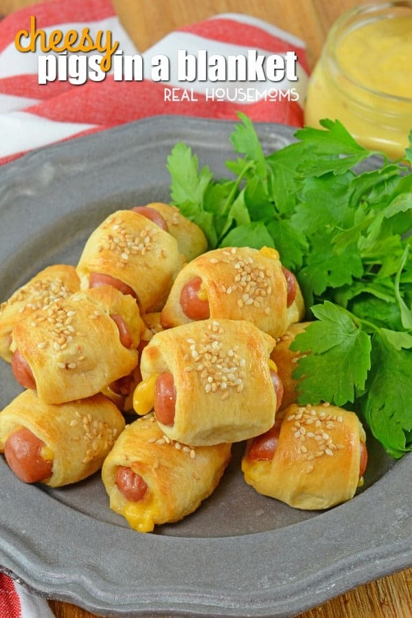Cheesy Pigs In A Blanket ⋆ Real Housemoms