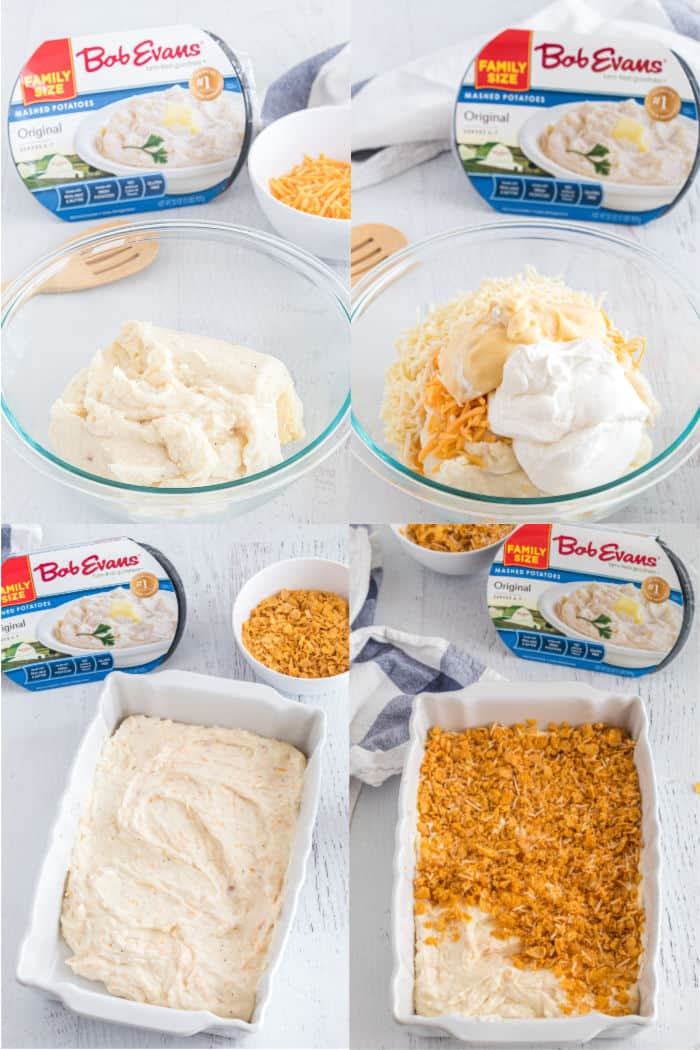 steps to make cheesy potato casserole
