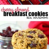 This healthy, high-protein Cherry Almond Breakfast Cookie is made with all-natural ingredients making the perfect solution for a quick, on-the-go breakfast!