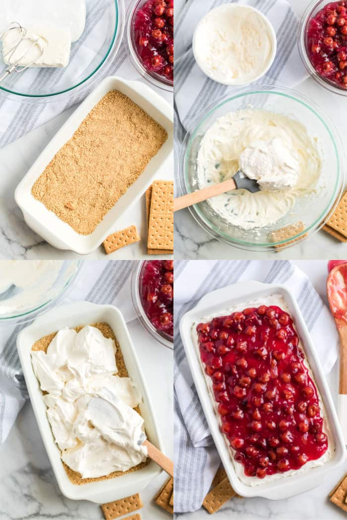 how to make cherry cheesecake dip