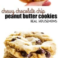 These Chewy Chocolate Chip Peanut Butter Cookies are absolute perfection! Get ready to devour a dozen or two, then make another batch to share with all our your friends!