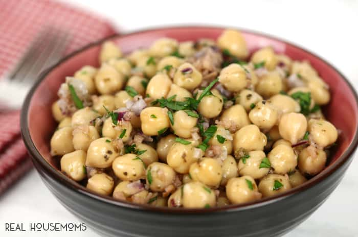 ITALIAN CECI BEAN SALAD is a family favorite that's fun to say and even more delicious to eat!