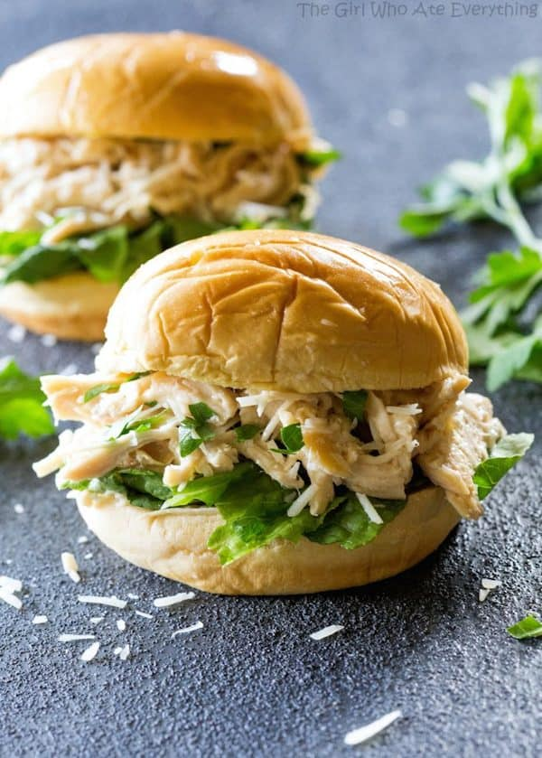 Chicken Caesar Sandwich - The Girl Who Ate Everything