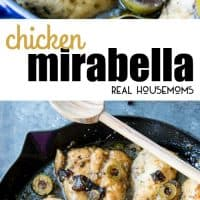 Deliciously flavorful Chicken Mirabella is sweet and savory, with prunes, capers, and green olives, it is one of the best things I have ever eaten. Seriously, a total favorite, and super easy to make too!
