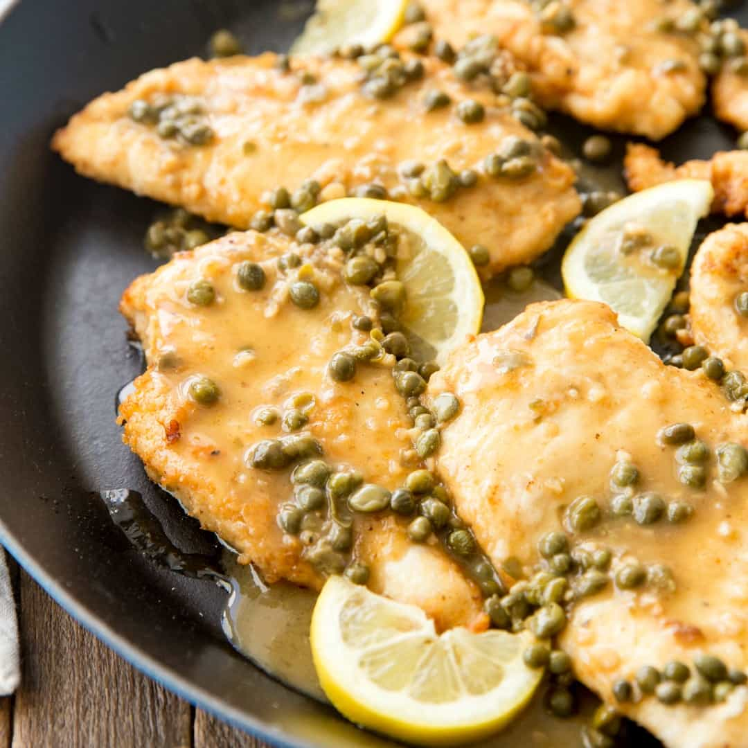 Chicken Piccata is a delicious blend of chicken, salt, garlic, and lemon! This recipe will rival any restaurant!