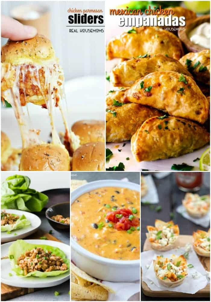 appetizer chicken recipes collage