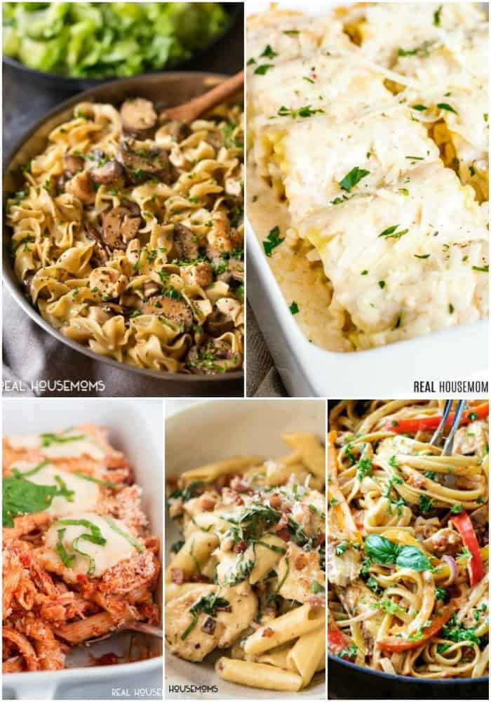 pasta chicken recipes collage