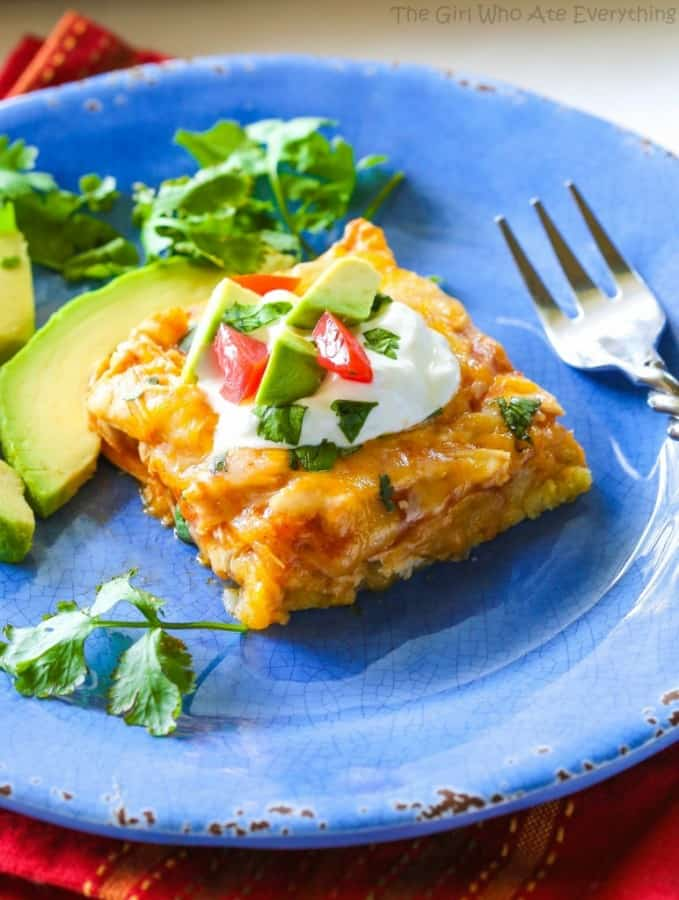Chicken Tamale Casserole - The Girl Who Ate Everything