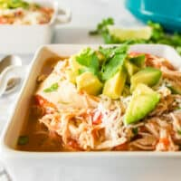 Chicken Tortilla Soup is a comforting meal that's incredibly easy to make! Your slow cooker does the work, and you get to fill your family's bellies!