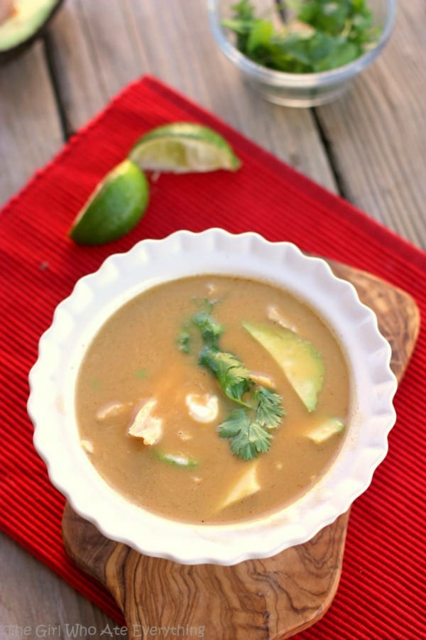 Chicken Tortilla Soup - The Girl Who Ate Everything