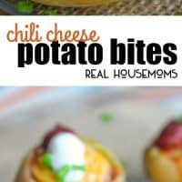These Chili Cheese Potato Bites are the perfect appetizer for your game day celebration!