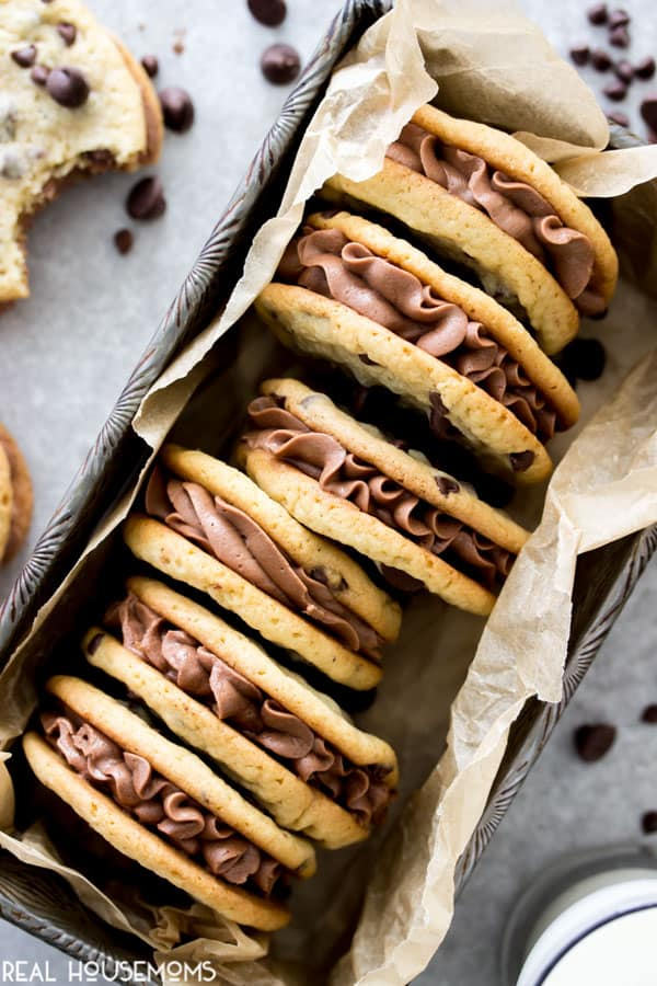 Chocolate Chip Cookie Sandwiches Real Housemoms