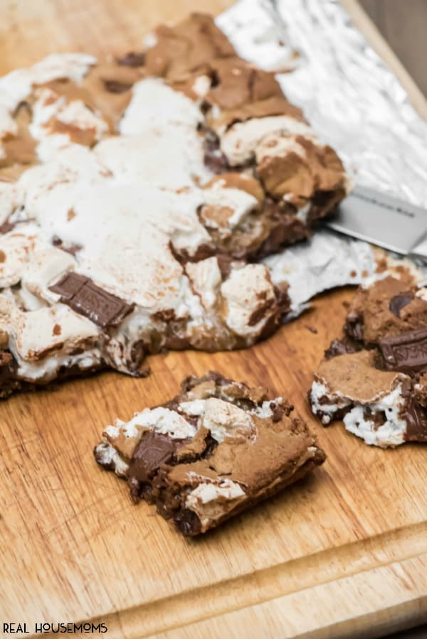 Chocolate Chip Cookie S'mores Bars combine two classic desserts to make the best new summer dessert ever! This has to be part of your next summer party!