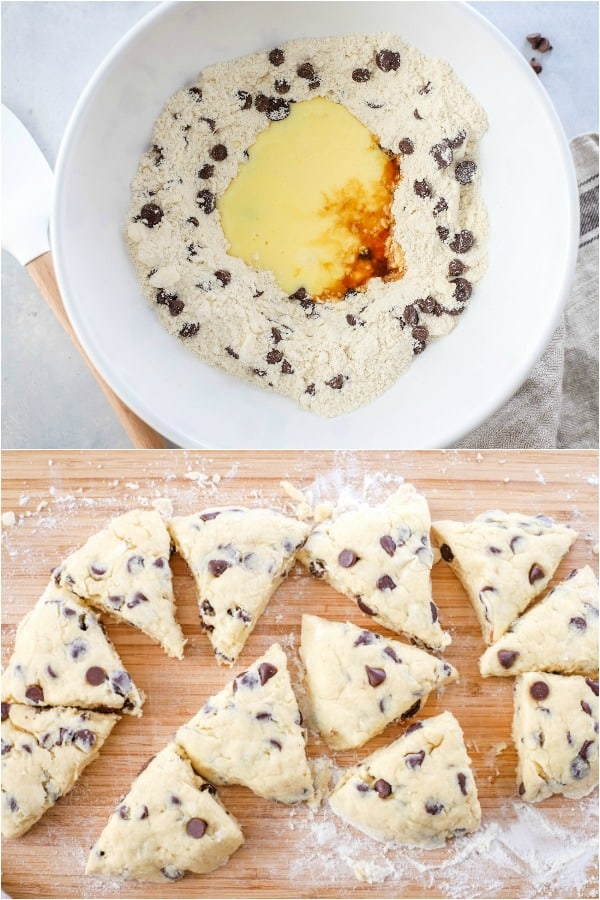 steps to make chocolate chip scones
