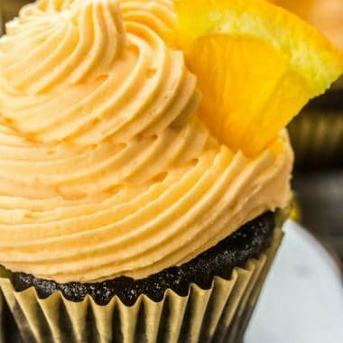 Chocolate and orange is a yummy flavor combination that will seriously excite your taste buds. These easy Chocolate Orange Cupcakes are a favorite with everyone!