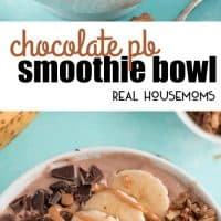 Start your day with a Chocolate PB Smoothie Bowl that is high in protein and super delicious!