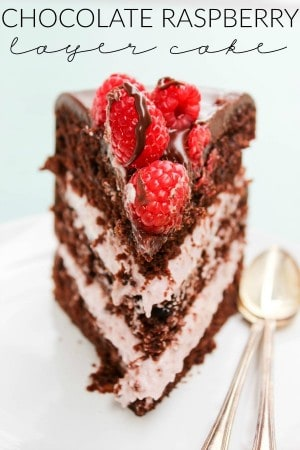 Chocolate Raspberry Layer Cake FEATURED IMAGE