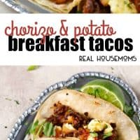 These Chorizo and Potato Breakfast Tacos are full of bold flavors for an epic breakfast recipe you'll want to make again and again!