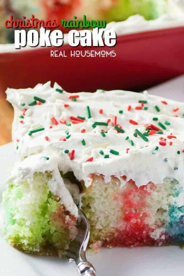 Christmas Rainbow Poke Cake Real Housemoms