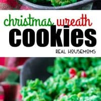 Christmas Wreath Cookies are a festive, fun, and tasty Christmas dessert. These cornflake wreaths are fun to make & easy enough that kids can help too!
