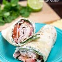 This CILANTRO LIME TURKEY WRAP adds yummy Mexican flavor to your lunch taking it to a new level!