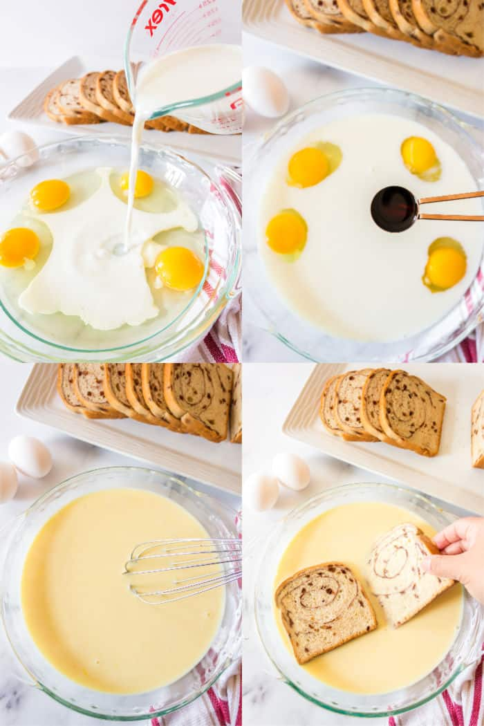 steps to make french toast custard