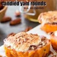 Cinnamon honey butter glazed candied yam rounds practically melt in your mouth! They're easy to prep ahead making them so simple to make!