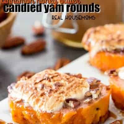Cinnamon Honey Butter Candied Yam Rounds