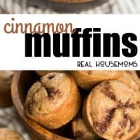 These quick, from-scratch Cinnamon Muffins are perfect for a sweet breakfast treat alongside a cup of coffee!