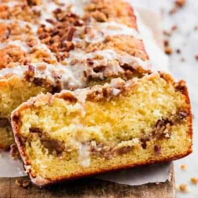 Cinnamon Pecan Coffee Cake Loaf