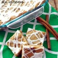 CINNAMON WALNUT BARS are an easy treat that's perfect for fall! Loaded with nuts and your favorite baking spice flavors, no one can resist this dessert!