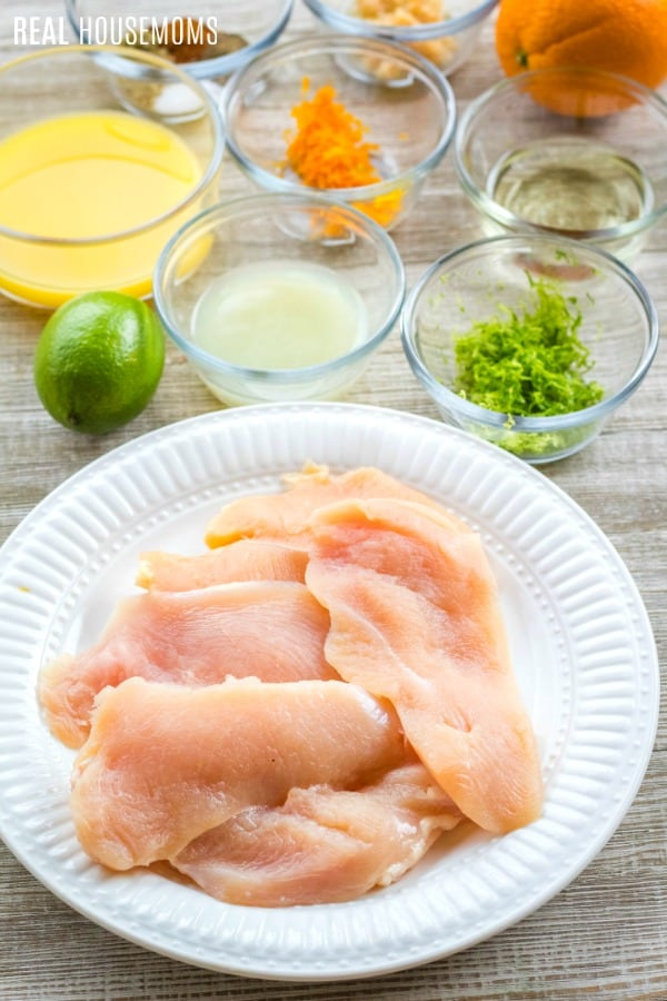 ingredients for citrus chicken breast marinade
