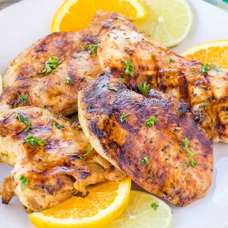 If you can't wait to start indulging in your favorite summertime flavors, this Citrus Chicken Breast Marinade was made for your backyard barbeque!