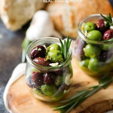 Are you an olive fan? I love the briny saltiness they have! One of my new favorite appetizers is this Citrus Herb Marinated Olives recipe. It's super easy to make, and is sure to please a crowd!