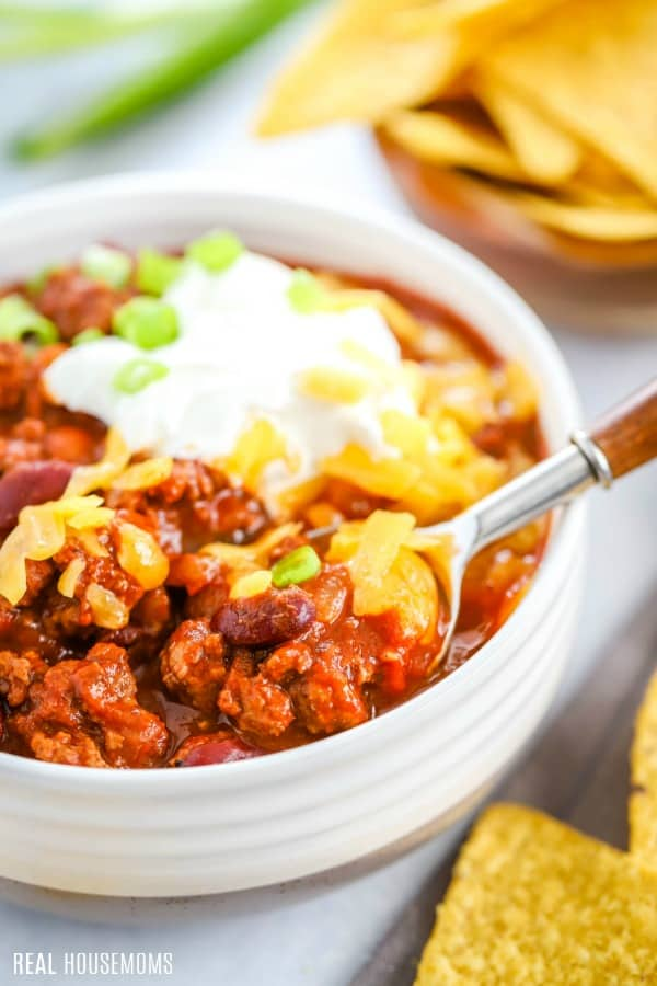 spoonful of classic chili