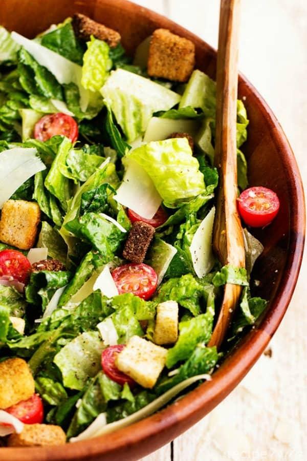 Classic Caesar Salad with Asiago Ceasar Dressing - The Recipe Critic