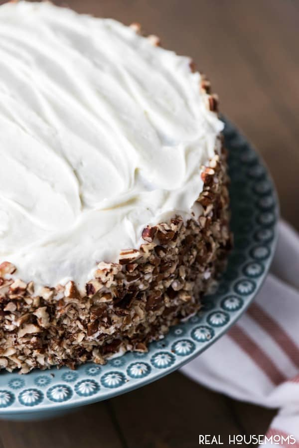 Everyone loves a Classic Carrot Cake! When it's topped with the best cream cheese frosting you have a winner that's perfect for Easter dessert or any time!