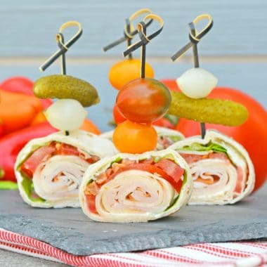 Club Sandwich Pinwheels