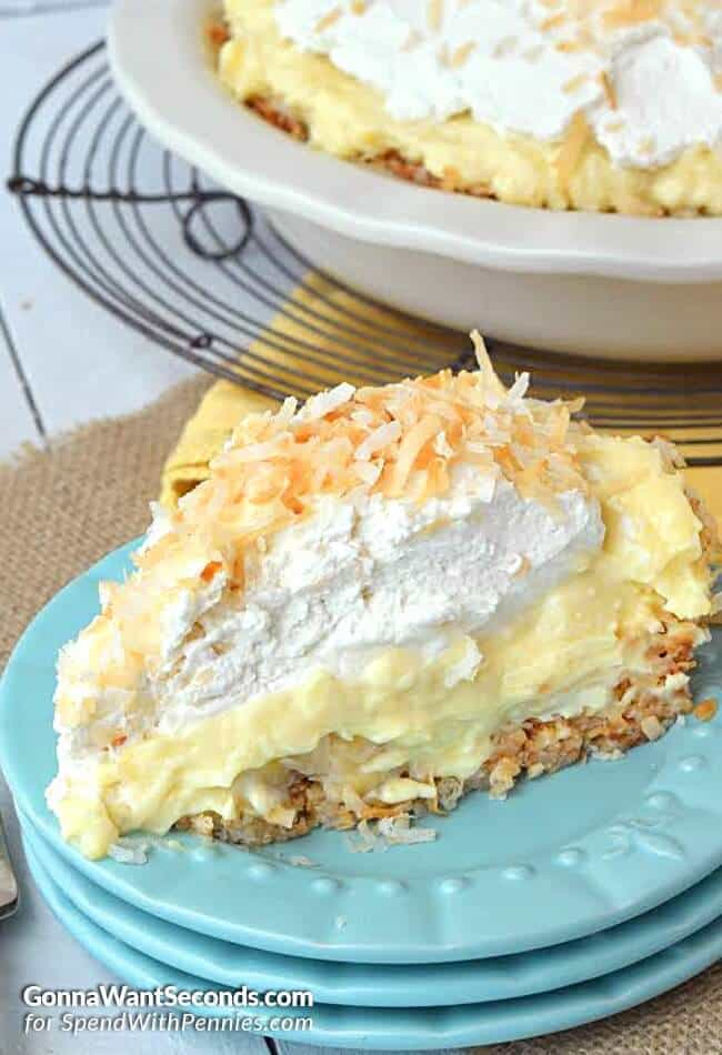 Coconut Banana Cream Pie - Spend with Pennies