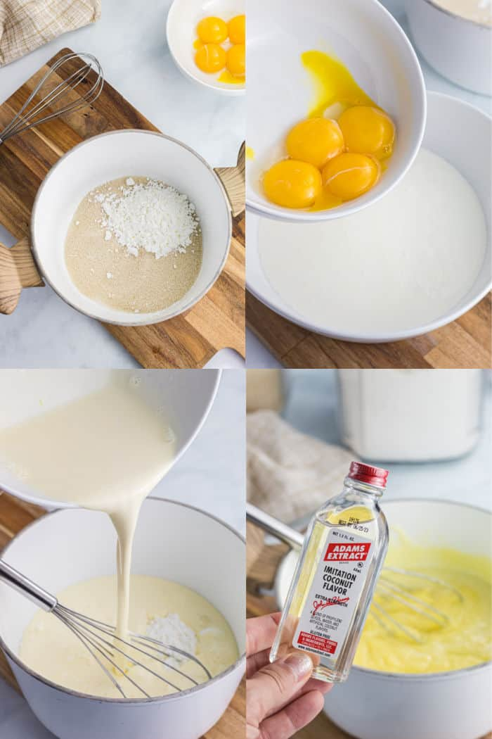 steps to make coconut cream pie filling