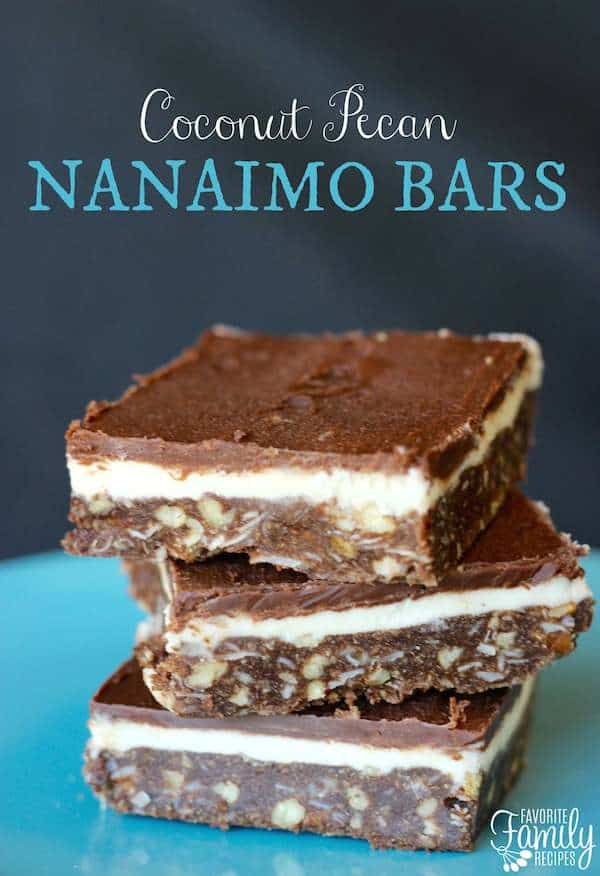 Coconut Pecan Nanaimo Bars - Favorite Family Recipes