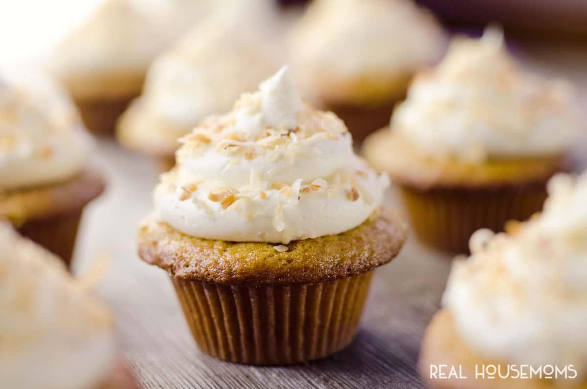 Coconut Rum Cupcakes ⋆ Real Housemoms